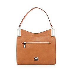 Principles - Tan metal corner shoulder bag