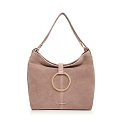 RJR.John Rocha - Light pink suede ring fitting shoulder bag
