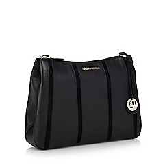 RJR.John Rocha - Black leather stripe panel cross body bag