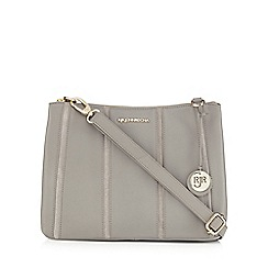 RJR.John Rocha - Grey leather stripe panel cross body bag