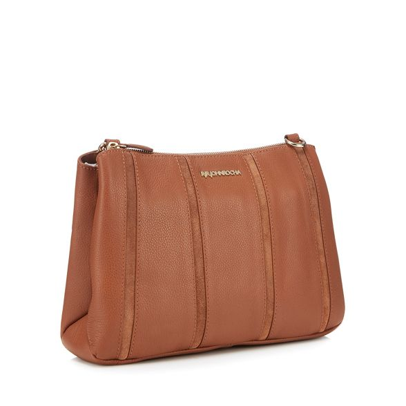 panel RJR Tan bag cross John leather Rocha body stripe Xqq4aZz