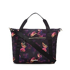 Red Herring - Multi-coloured floral print large tote bag