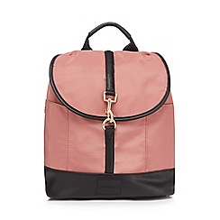 Red Herring - Pale pink nylon backpack
