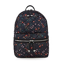 Red Herring - Multi-coloured quilted backpack
