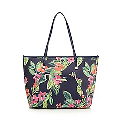 The Collection - Multi-coloured floral print shopper bag