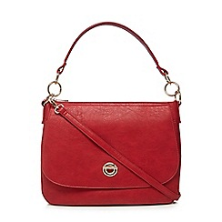 The Collection - Red circle shoulder bag