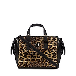 The Collection - Multi-coloured leopard print tote bag