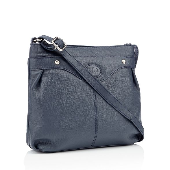 cross leather logo Navy body detail The Collection bag gwq6xP5X