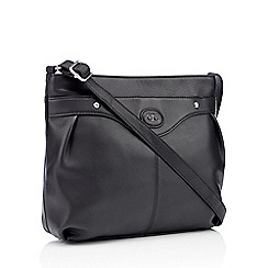 The Collection - Black leather logo detail cross body bag