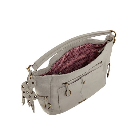Light hobo zip ring bag grey Mantaray vUxqznYq