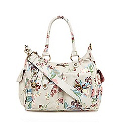 Mantaray - Multi-coloured floral print bowler bag