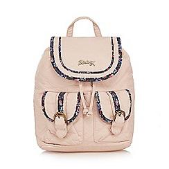 Mantaray - Light pink floral trim backpack
