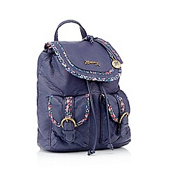 Mantaray - Navy floral trim backpack