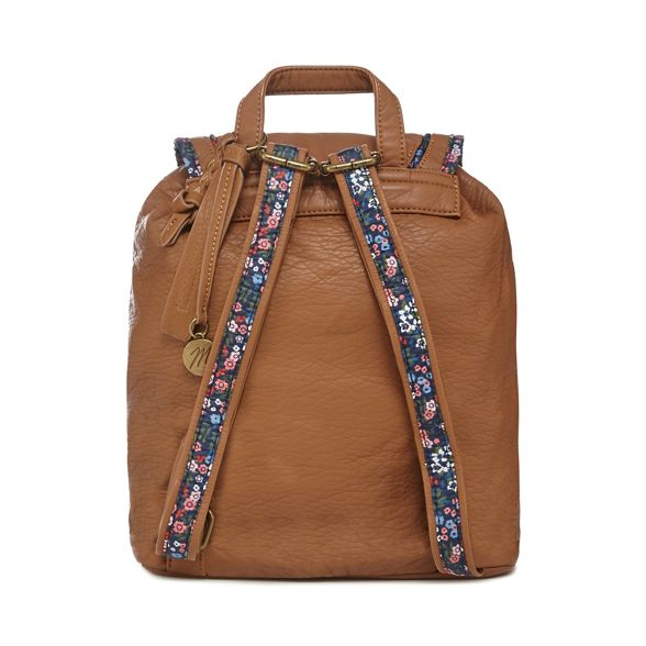 backpack Tan Mantaray trim floral Tan floral Mantaray trim RqcvWcpO