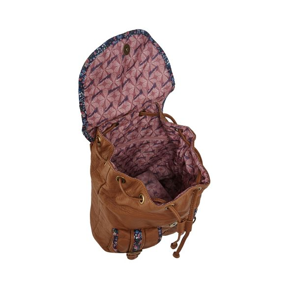Tan backpack Mantaray floral Tan trim Mantaray Bx1qFYH