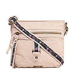 Mantaray - Light pink buckle cross body bag