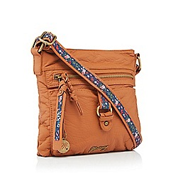 Mantaray - Light tan buckle cross body bag
