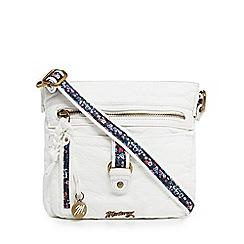 Mantaray - White buckle cross body bag