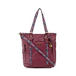 Mantaray - Wine red floral inlay shoulder bag