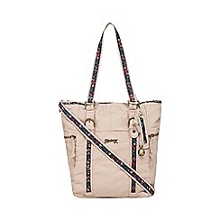 Mantaray - Light pink floral inlay shoulder bag