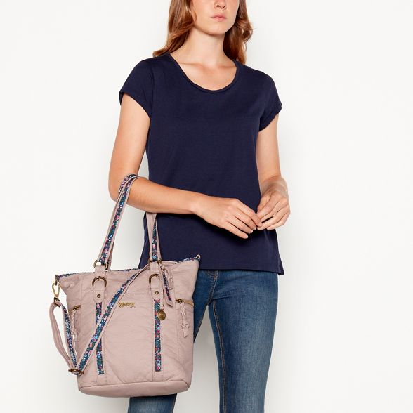 bag inlay Light purple shoulder floral Mantaray qf1HwBq