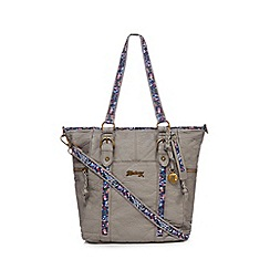 Mantaray - Grey floral inlay shoulder bag