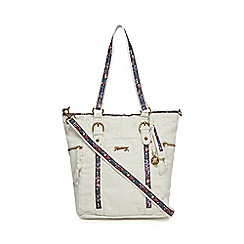 Mantaray - White floral inlay shoulder bag