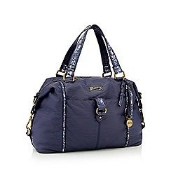 Mantaray - Navy floral inlay bowler bag