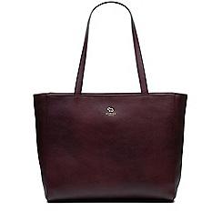 Radley - Greyfriars gardens burgundy large zip-top tote bag