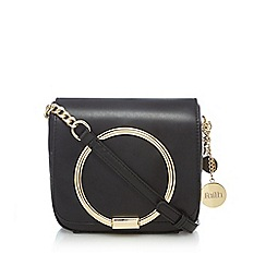 Faith - Black metal circle cross body bag