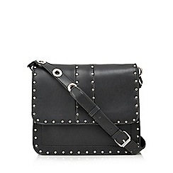 Faith - Black studded cross body bag