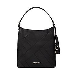 Versace Jeans - Black patchwork shoulder bag