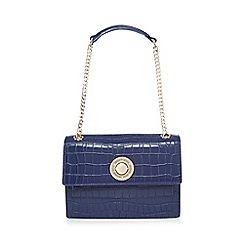 Versace Jeans - Blue croc-effect shoulder bag