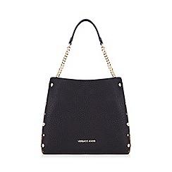 Versace Jeans - Black leopard side shoulder bag