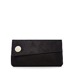 J by Jasper Conran - Black leather clutch bag