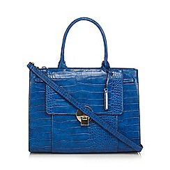 J by Jasper Conran - Blue croc effect large grab bag