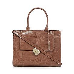 J by Jasper Conran - Light brown croc-effect 'Knightsbridge' large grab bag