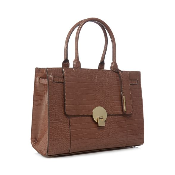 grab J large bag Light 'Knightsbridge' Jasper brown croc by Conran effect f7fwzr