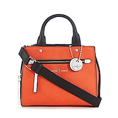 J by Jasper Conran - Orange colour block small grab bag