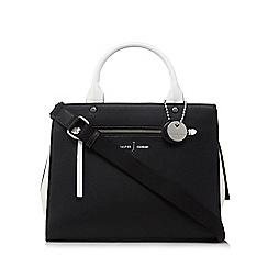 J by Jasper Conran - Black colour block large grab handle bag