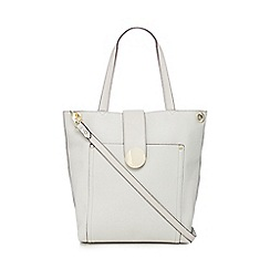 J by Jasper Conran - Grey circle tab tote bag