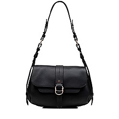 Radley - Trinity square black medium flapover shoulder bag