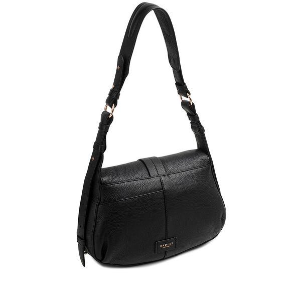 black Trinity flapover Radley medium square bag shoulder HEwwq7d