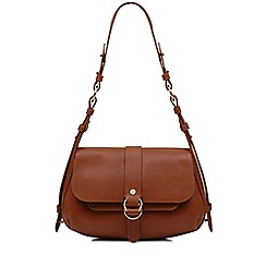 Radley - Trinity square tan medium flapover shoulder bag