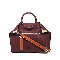 J by Jasper Conran - Wine red ring handle tote bag