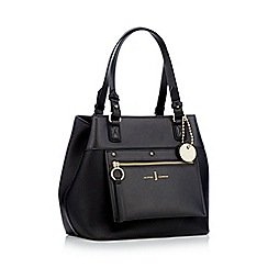 J by Jasper Conran - Black zip panel small shoulder bag