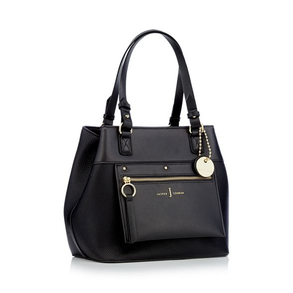 Conran shoulder Jasper bag Black J small by panel zip EHq0gPW
