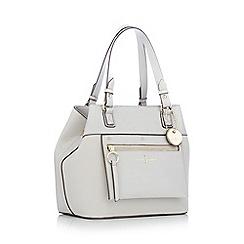 J by Jasper Conran - Grey zip panel small shoulder bag