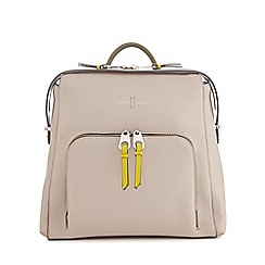 J by Jasper Conran - Grey front pocket backpack