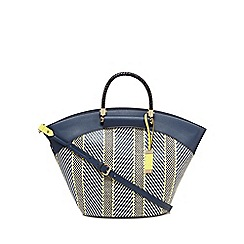 J by Jasper Conran - Navy straw tote bag
